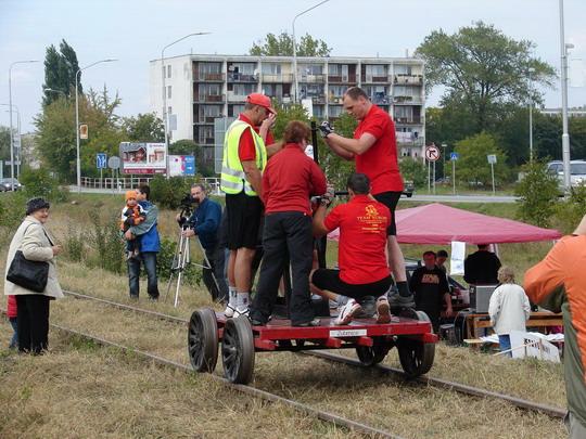 """Medzinárodný """"EUROPA team"""" má už niekoľko tratí na drezinách prejdených..., aj vo Fínsku..., 27. 9. 2008 © Ing. Marko Engler"""