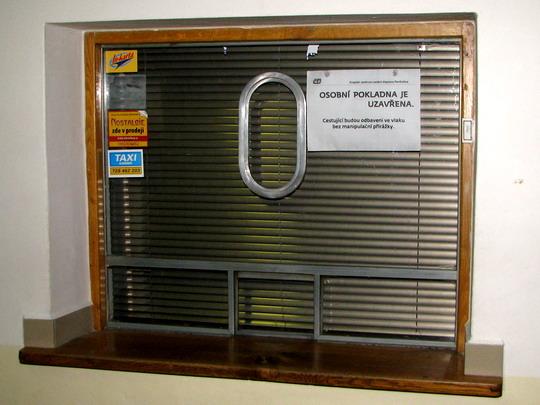 17.01.2009 - Lichkov: zavřená osobní pokladna © PhDr. Zbyněk Zlinský