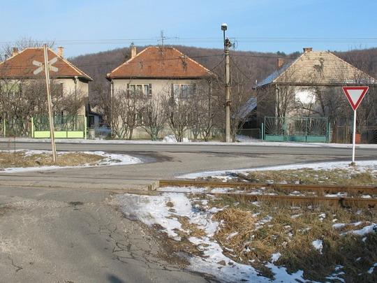 Priecestie P4 - Situácia na priecestí, 13.2.2006, © Tomáš Rotbauer
