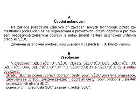 Výnos č. 2 GŘ SŽDC ze dne 19.1.2009 ve formátu PDF - ZOBRAZ!