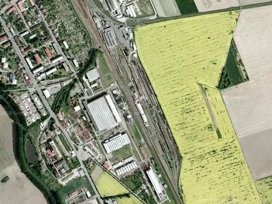 Areál TSS Hulín na fotomapě © Mapy.cz - ZOBRAZ