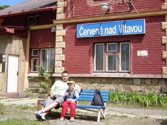 21.7.2008 - Žst. Červená nad Vltavou © Mgr. R.Kadnár, riso.rds 2009