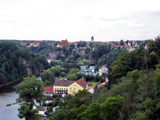 23.7.2008 - Bechyně, pohľad z Duhového mostu © Mgr. R.Kadnár, riso.rds 2009