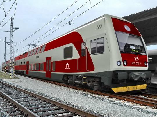Vizualizace konečného návrhu podoby jednotky řady 671 ZSSK © ŠKODA VAGONKA - ZOBRAZ!