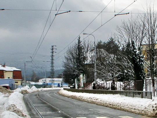 Nově postavená trať z Dolního do Horního Hanychova (25.02.2009 - Liberec) © PhDr. Zbyněk Zlinský
