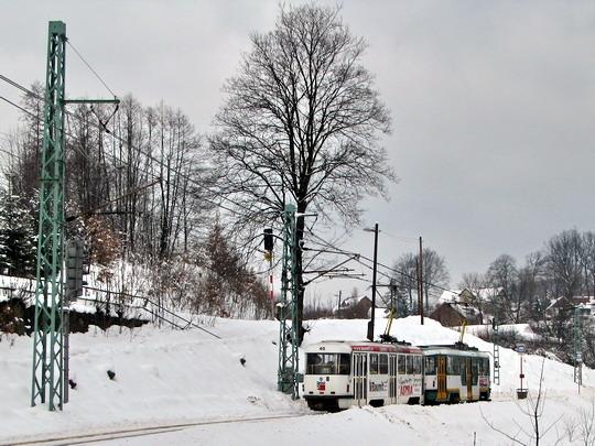 Projekt Regiotram Nisa chtěl využít souběhu železniční a tramvajové trati (25.02.2009 - Proseč n.N.) © PhDr. Zbyněk Zlinský
