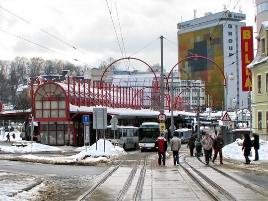 Terminál MHD (25.02.2009 - Liberec) © PhDr. Zbyněk Zlinský