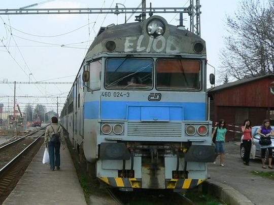 7.4.2009 - Jablunkov: Po příjezdu do stanice 460 024-3 © Karel Furiš