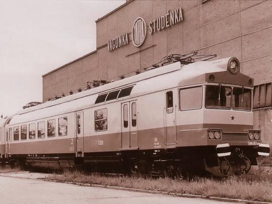 Elektrický vůz SM 487.0001 (1966 - Studénka) - snímek: VÚKV