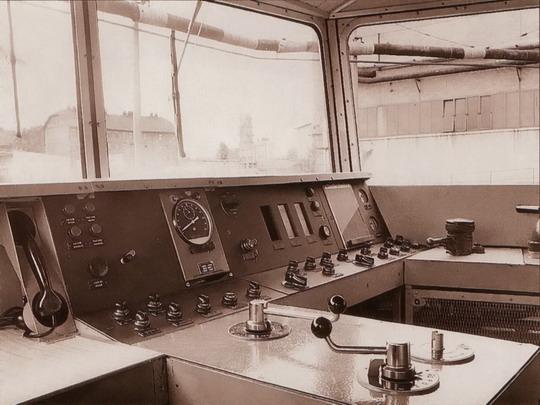 Stanoviště řídicího vozu Ř 487.0001 (1966 - Studénka) - snímek: VÚKV