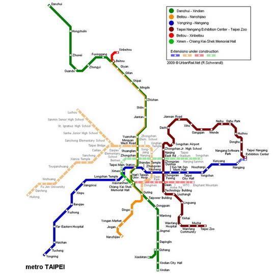 Plán sítě metra ze stránek dopravce - ZOBRAZ!
