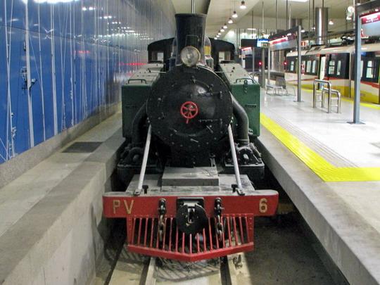 """09.06.2009 - Palma, Estació Intermodal: lokomotiva č. 6 """"Landaluce"""" © PhDr. Zbyněk Zlinský"""