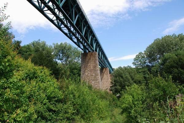 Papradský viadukt, pohľad smerom k Starej Turej.