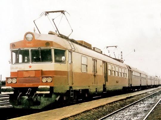 EM 488.0001/002 v období zkušebního provozu na snímku z archivu Vagonářského muzea Studénka