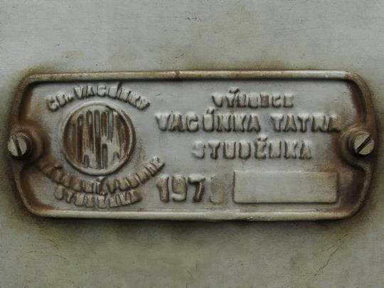 Výrobní štítek vozu 460.001-1 (30.06.2007 - PJ Ústí n.L) © PhDr. Zbyněk Zlinský
