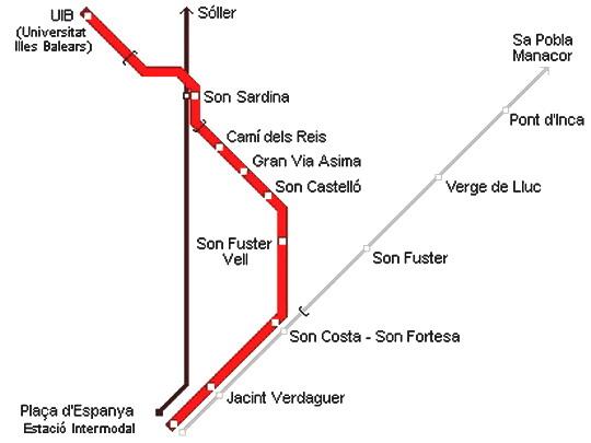 Plán metra v sytému železničních tratí kolem metropole - zdroj: www.urbanrail.net (upraveno)