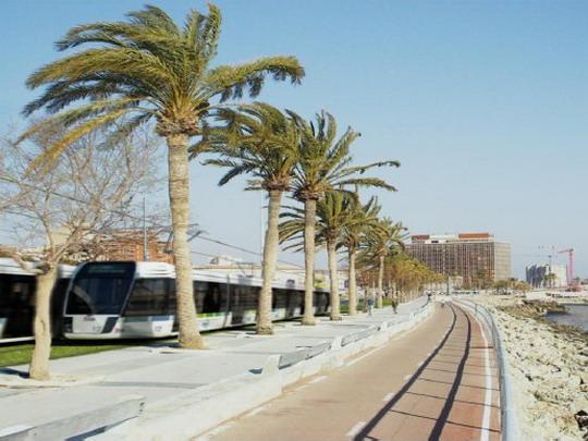Vizualizace pobřežní tramvaje - zdroj: www.caib.es