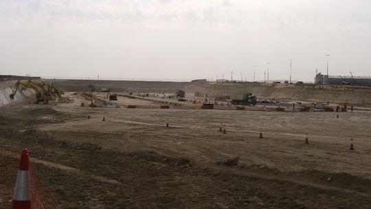 Buduce depo Jebel Ali - stavebne prace na juznom okraji ©  F.Smatana