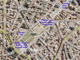 Letecký snímek Parc de les Estacions v Palmě, zdroj: Wikimapia - ZOBRAZ!