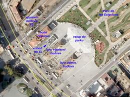 Letecký snímek vstupu do Estació Inetrmodal a zachovalých staničních budov FCM v Palmě, zdroj: Wikimapia - ZOBRAZ!