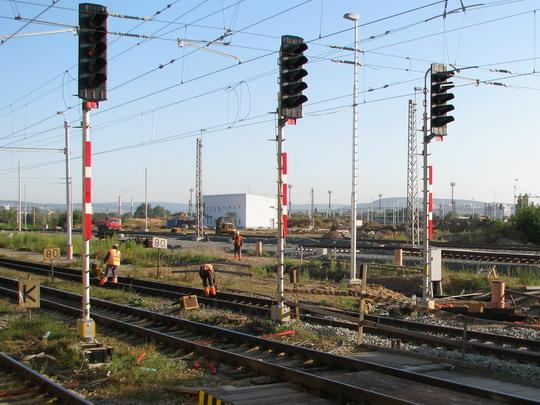 Práce na výstavbě nového odstavného nádraží © PhDr. Zbyněk Zlinský