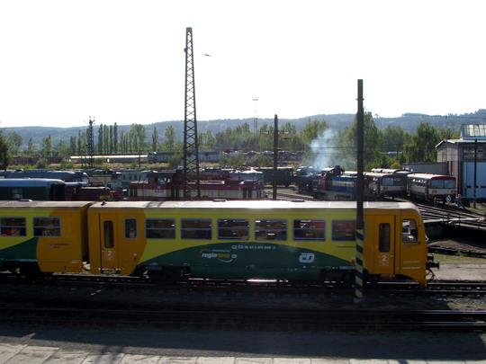 """Končící Den železnice v PJ Česká Třebová (foto z R 874 """"Macocha"""" © PhDr. Zbyněk Zlinský"""