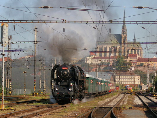 """""""Šlechtična"""" odjíždí se zvláštním vlakem do Zastávky u Brna © Milan Vojtek"""