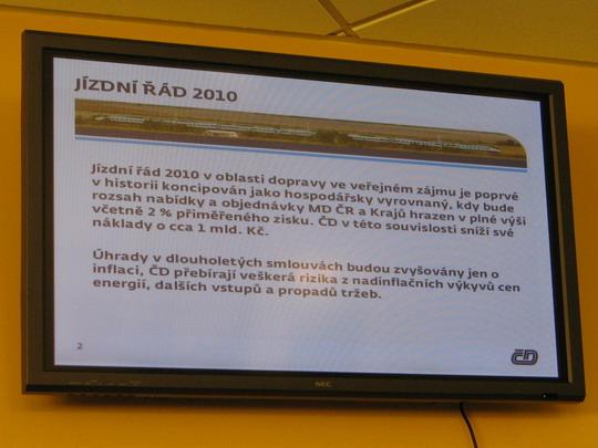 Prezentace hlavní změny jízdního řádu (Pardubice hl.n., 24.11.2009) © PhDr. Zbyněk Zlinský