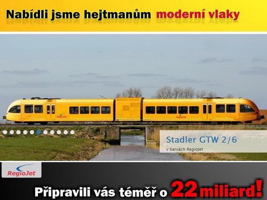 Koláž z reklamy na stránce www.regiojet.cz