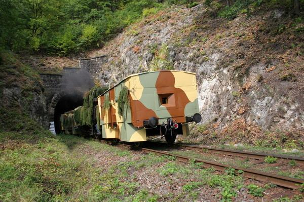 IPV Štefánik, tunel Kečka, rekonštrukcia bojov © Milan Vojtek