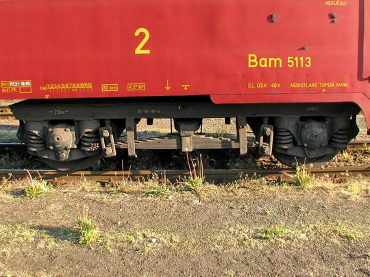 Podvozek vozu Bam 5113, Jaroměř 3.5.2009 © PhDr. Zbyněk Zlinský