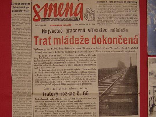 Dobová tlač na výstave o trati © Kamil Korecz