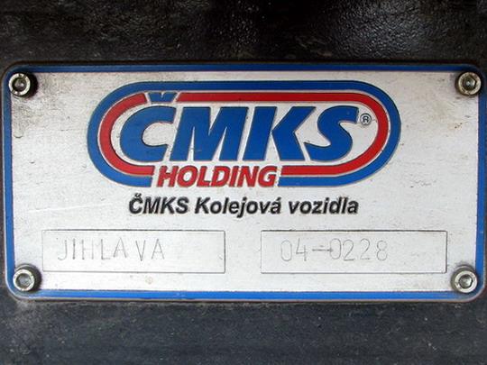 Výrobní štítek, používaný v Jihlavě roku 2004, na 703.716-1 EŽ (Praha-Vršovice, 23.6.2008) © PhDr. Zbyněk Zlinský