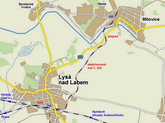 Znázornění situace na mapě © www.mapy.cz - ZOBRAZ!