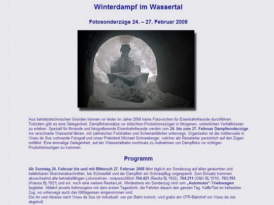 Program akce na www.wassertalbahn.ch - ZOBRAZ!