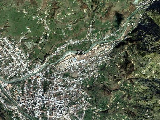Vişeu de Sus na satelitním snímku - Wikimapia