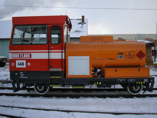 MUV 71.005 Sokolovské uhelné a.s. v Jihlavě dne 16.1.2009 © CZ LOKO