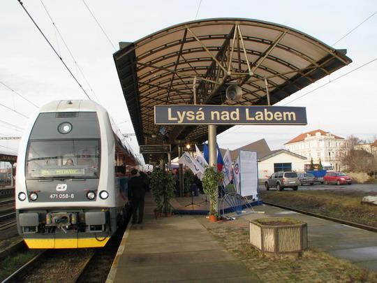 Zvláštní vlak dorazil do svého prvního postupného cíle © PhDr. Zbyněk Zlinský