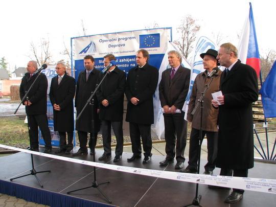 Generální ředitel SŽDC hovoří, ostatní se připravují © PhDr. Zbyněk Zlinský