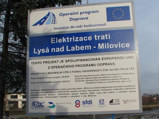 Informační tabule u milovického nádraží © PhDr. Zbyněk Zlinský