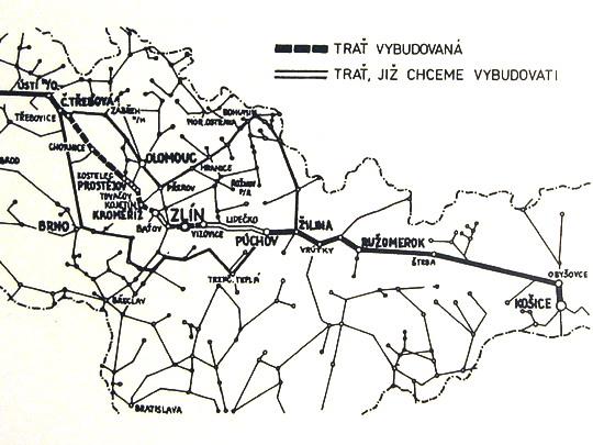 """Mapka plánované Baťovy železnice v publikaci """"110.let místní dráhy""""; repro Stanislav Plachý - ZOBRAZ CELOU!"""