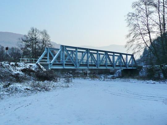 Most v textu vzpomínaný, tentokrát v zimním hávu (19.12.2009) © vlarsky-prusmyk