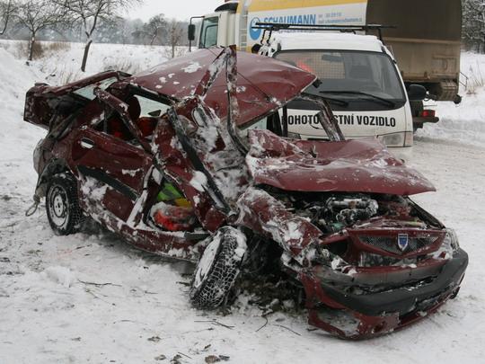 Nehoda u Třeboně dne 14.1.2010 © Drážní inspekce