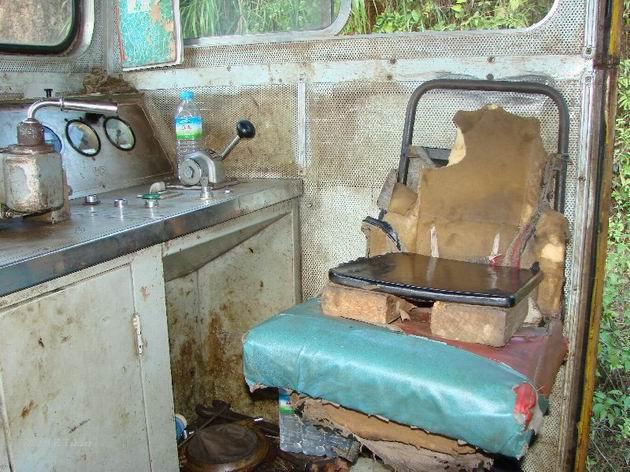 Upravené sedadlo na dieslovej lokomotive
