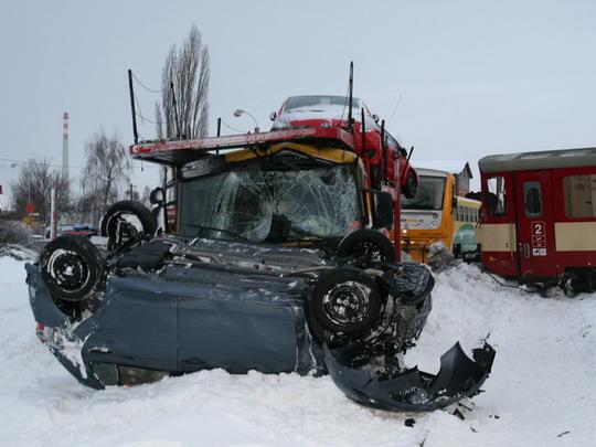 29.01.2010 - Kolín: nehoda na přejezdu © Drážní inspekce