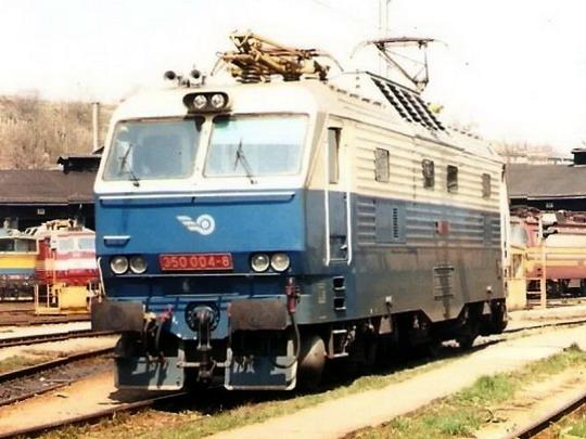350.004-8 ještě coby vozidlo unitárních ŽSR (4.4.1996 - RD Bratislava hl.) © Jozef Schnierer