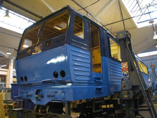 Skříň prvního prototypu nové řady, 363.531-5 ČD Cargo (ex 163.031-8) © PhDr. Zbyněk Zlinský