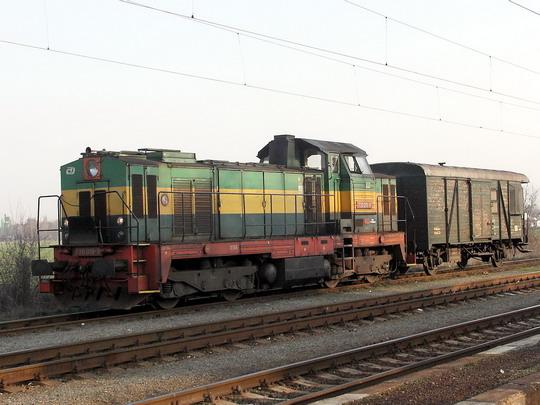 Lokomotiva 730.018-9 v Opatovicích n.L. dne 5.4.2005 © PhDr. Zbyněk Zlinský