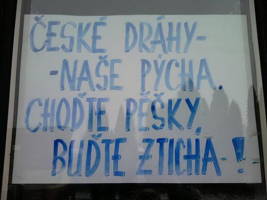 Jeden z hořkých výkřiků (6.3.2010 - Dobruška) © Jarda Zilvar