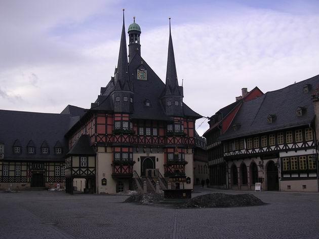 Hrázděná radnice ve Wernigerode. 27.2.2010 © Aleš Svoboda